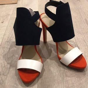 Zara heels color blocks size 8 or 39euro, new